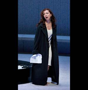 "FILE - In this Friday, March 30, 2012 file photo provided by the Metropolitan Opera, Natalie Dessay plays Violetta in a dress rehearsal of Verdi's ""La Traviata,"" at the Metropolitan Opera in New York. (AP Photo/Metropolitan Opera, Marty Sohl, File)"