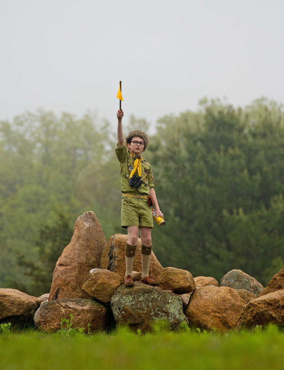 "In this film image released by Focus Features, Jared Gilman is shown in a scene from ""Moonrise Kingdom."" (AP Photo/Focus Features, Niko Tavernise)"
