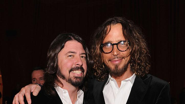 21st Annual Elton John AIDS Foundation Academy Awards Viewing Party - Inside: Dave Grohl and Chris Cornell