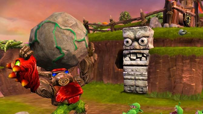 """This video game image released by Activision shows a scene from """"Skylander Giants."""" (AP Photo/Activision)"""