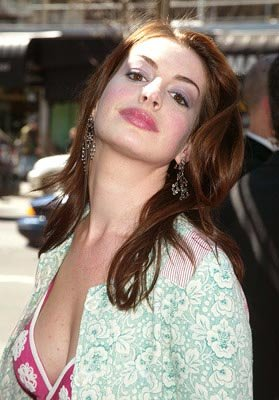 Anne Hathaway at the New York premiere of Miramax's Ella Enchanted