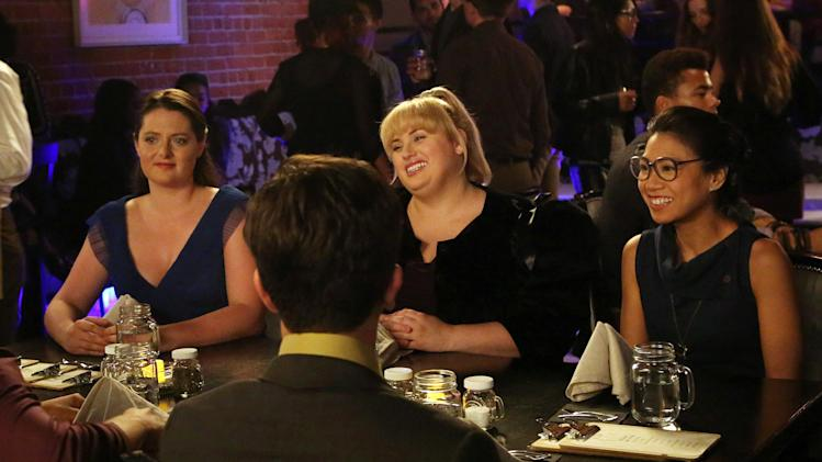 "This image released by ABC shows, from left, Lauren Ash, Rebel Wilson and Liza Lapira in a scene from ""Super Fun Night,"" premiering Wednesday, Oct. 2, at 9:30 p.m. EST on ABC. (AP Photo/ABC, Carol Kaelson)"