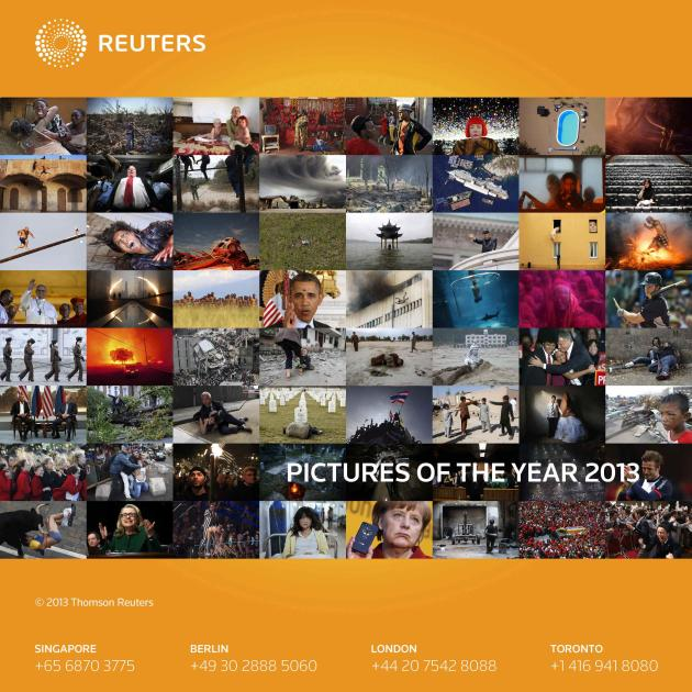 REUTERS NEWS PICTURES SERVICE - PICTURES OF THE YEAR 2013