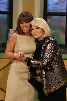 Joan and Melissa Rivers are all smiles on the set of Access Hollywood Live on March 15, 2011 -- NBC Universal