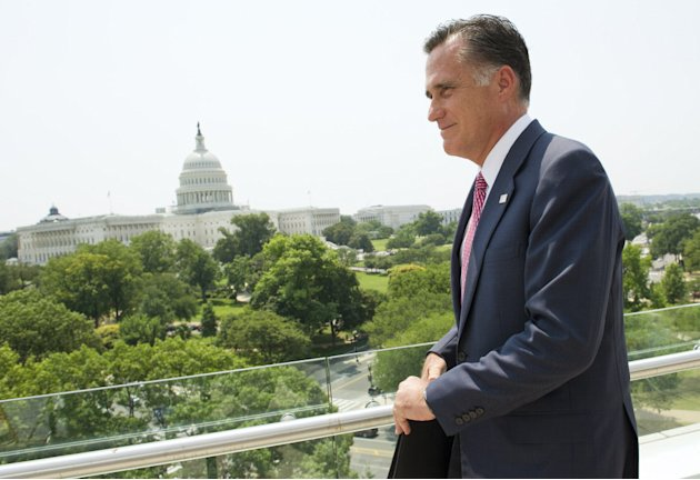 Republican presidential candid Mitt Romney speaks on the Supreme Court's health care reform ruling in Washington, USA