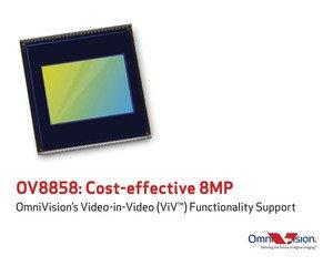 OmniVision Launches 1/4-Inch 8-Megapixel Sensor with Video-in-Video Support for Mainstream Mobile Devices