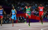 (From L) Dominican Republic's Luguelin Santos, Bahamas' Chris Brown, Grenada's Kirani James and Trinidad and Tobago's Lalonde Gordon compete in the 400m final at the athletics event of the London 2012 Olympic Games, on August 6. Jubilation erupted across Grenada when James earned the tiny island its first ever Olympic medal