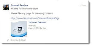 How to Get More Likes on Your Facebook Page image Facebook connection thank you message