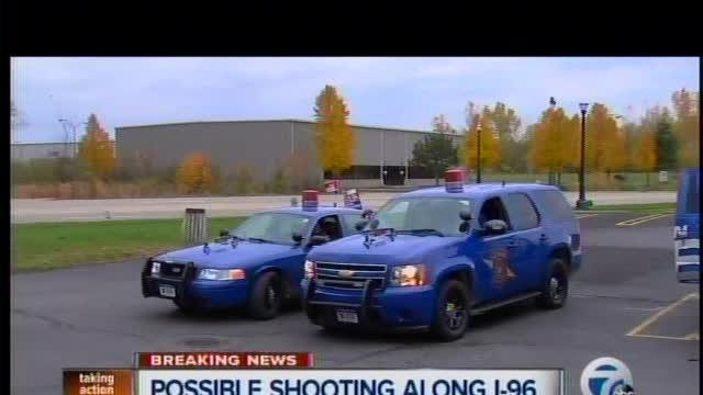 Possible shooting along I-96