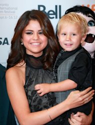 Selena Gomez and Jaxon Bieber attend the 'Hotel Transylvania' premiere during the 2012 Toronto International Film Festival on September 8, 2012  -- Getty Images