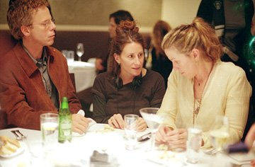 Greg Germann , director Nicole Holofcener and Frances McDormand on the set of Sony Pictures Classics' Friends With Money