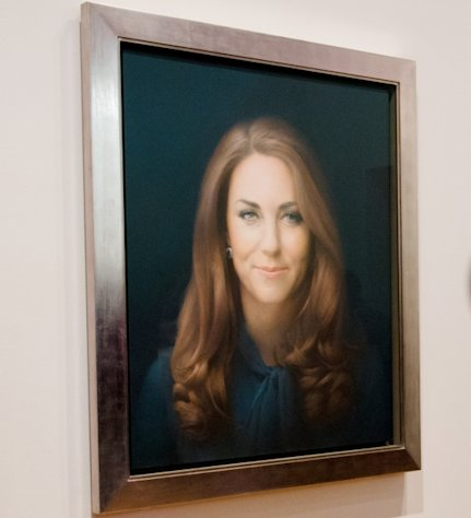 The first official portrait of Kate Middleton, Duchess of Cambridge, revealed January 11, 2013 -- Getty Premium