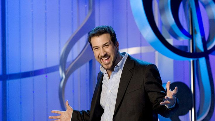Host, Joey Fatone in The Singing Bee.