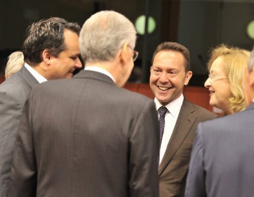 European finance leaders attend a Eurozone meeting