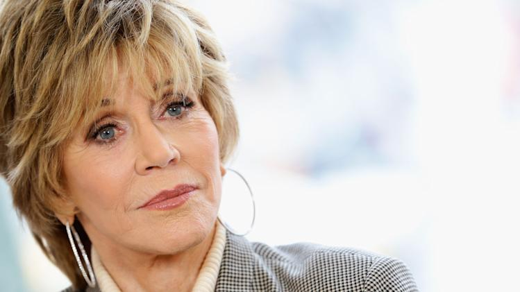 Jane Fonda Visits L'Oreal Make Up Studio - 63rd Berlinale International Film Festival