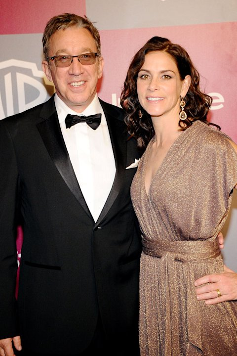 Tim Allen and Jane Hajduk arrive at the 2011 InStyle And Warner Bros. 68th Annual Golden Globe Awards post-party held at The Beverly Hilton hotel on January 16, 2011 in Beverly Hills, California.