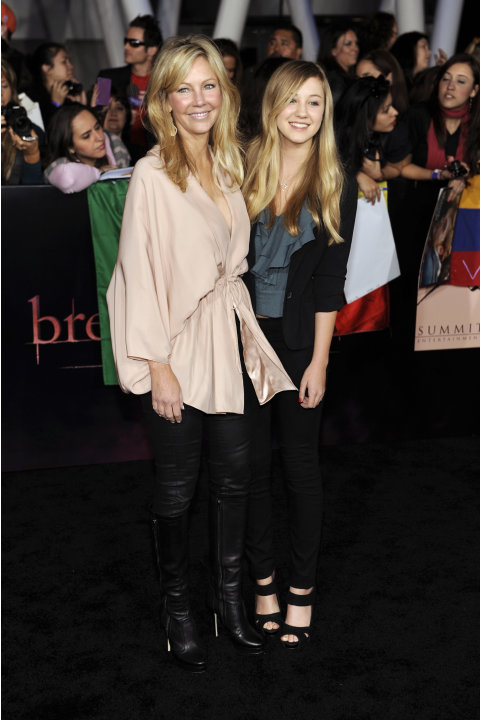 "Heather Locklear, left, and daughter Ava arrive at the world premiere of ""The Twilight Saga: Breaking Dawn - Part 1"" on Monday, Nov. 14, 2011, in Los Angeles. (AP Photo/Chris Pizzello)"