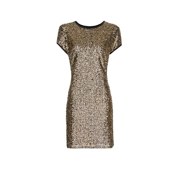 Gold sequin dress, £59.99 Mango