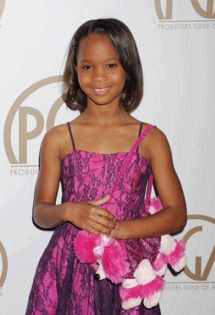 Quvenzhane Wallis arrives at the 24th Annual Producers Guild Awards at The Beverly Hilton Hotel on January 26, 2013 in Beverly Hills, Calif. -- Getty Images