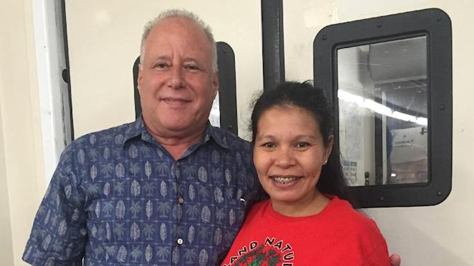 This Nov. 25, 2015 photo provided by Hawaii state Sen. Russell Ruderman shows Ruderman and his wife Dina pose for a photo on in Pahoa, Hawaii. The senator is worried about a dengue fever outbreak on the Big Island where they live because his wife is six months pregnant. He's among the Big Island lawmakers who say the state Department of Health isn't doing enough to combat the outbreak. (Russell Ruderman via AP)