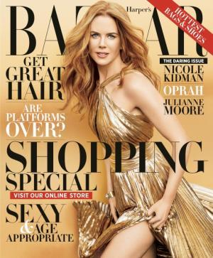 Nicole Kidman on the November 2012 cover of Harper's Bazaar -- Harper's Bazaar
