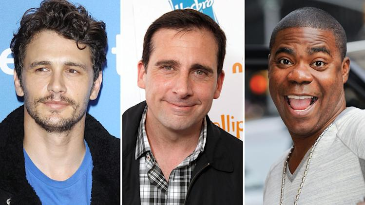 James Franco, Steve Carrell and Tracy Morgan