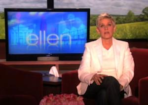"Ellen DeGeneres on an episode of ""The Ellen DeGeneres Show"" on October 1, 2010  -- Getty Images"