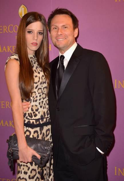 Brittany Lopez and Christian Slater arrives at 18th Annual InterContinental Miami Make-A-Wish Ball at Hotel intercontinental on November 3, 2012 -- Getty Images