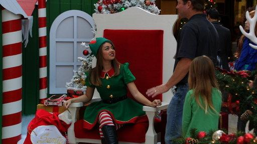 Haley the Elf and Alex As Mrs. Claus