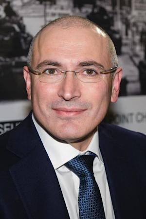 Mikhail Khodorkovsky at a press conference at the Wall …