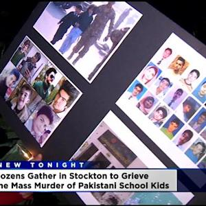 Mourners Gather At UOP To Remember Students Killed At Pakistani School