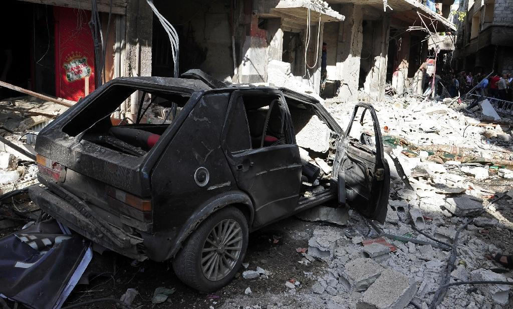 Nine dead in IS car bomb at Damascus police club: monitor