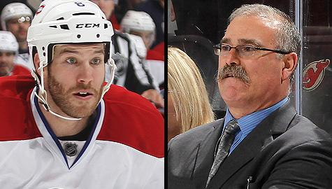 Montreal Canadiens' Brandon Prust and Ottawa Senators coach Paul MacLean