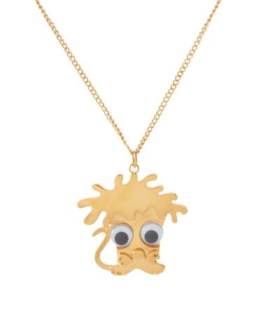 Louise Gray Lion Face Pendant Necklace, $250, at ASOS