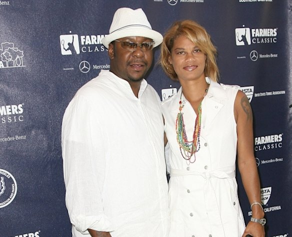 Bobby Brown and Alicia Etheredge-Brown arrive at Game Changers Pre-VIP Reception at UCLA Campus in Westwood, Calif. on July 27, 2011  -- Getty Premium