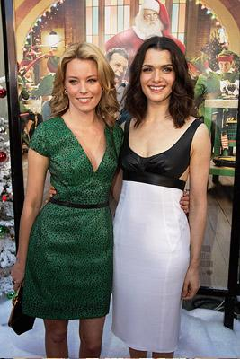 Elizabeth Banks and Rachel Weisz at the Hollywood premiere of Warner Bros. Pictures' Fred Claus