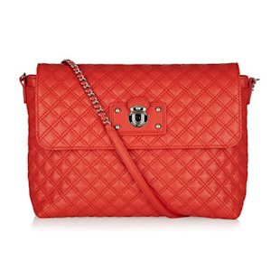Red quilted bag by Marc Jacobs