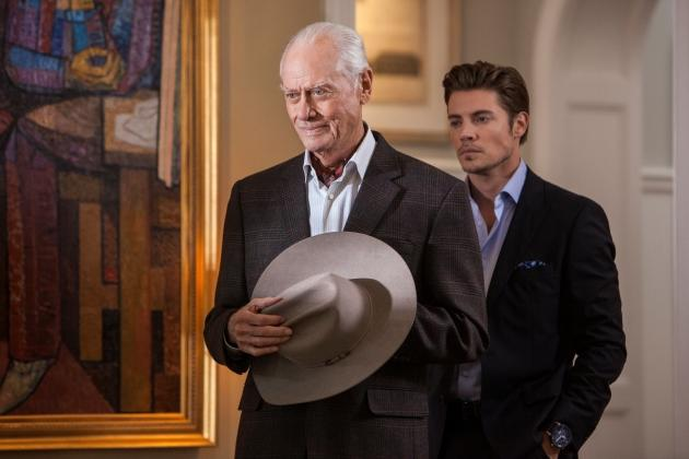 Larry Hagman and Josh Henderson in 'Dallas' -- TNT