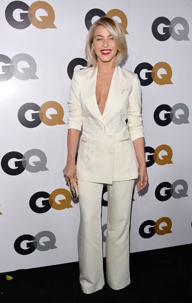 "Julianne Hough: The ""Rock of Ages"" actress channels Angelina Jolie's white Dolce & Gabbana Oscars suit but with not much success. The pants are too baggy, making her leggs look shapeless and the blaze"