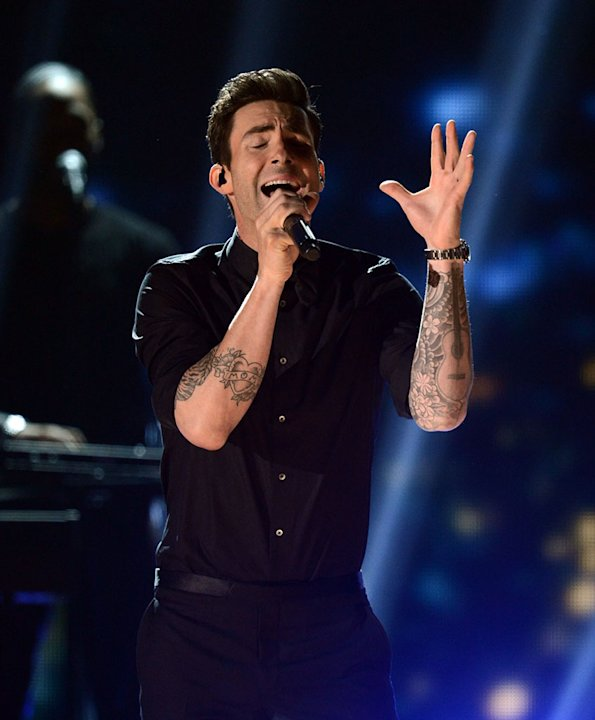 The 55th Annual GRAMMY Awards - Show: Adam Levine of Maroon 5