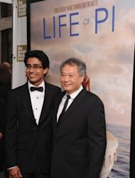 "Actor Suraj Sharma and director Ang Lee attend the Opening Night Gala Presentation Of ""Life Of Pi"" at the 50th New York Film Festival at Alice Tully Hall, on September 28, in New York City"