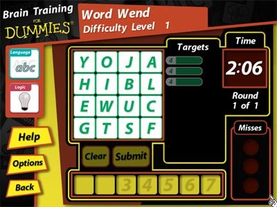 tampilan mini-game word wend