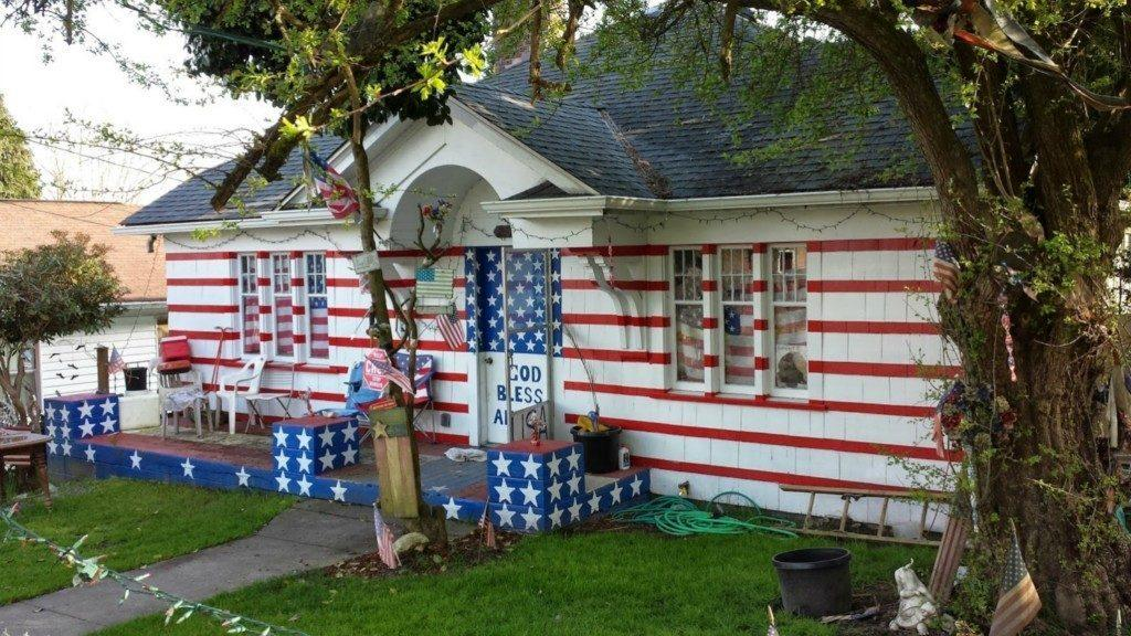 Patriot Act-cents: Please Stand & Salute The Most American House in America
