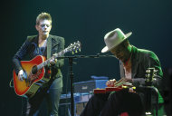 Natalie Maines performs with Ben Harper during the SXSW Music Festival, on Wednesday, March 13, 2013 in Austin, Texas. (Photo by Jack Plunkett/Invision/AP Images)