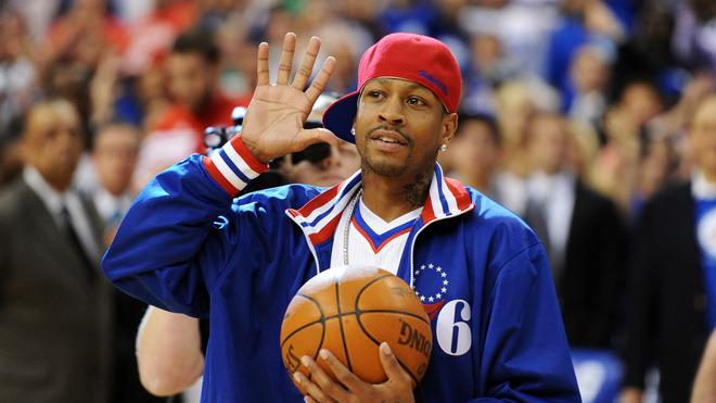 Former Philadelphia 76ers Player Allen Iverson Walks Getty Images