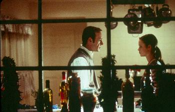 Kevin Spacey and Thora Birch in American Beauty