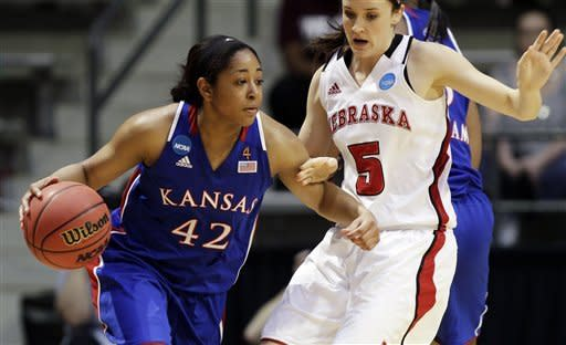 Goodrich leads Kansas past Nebraska 57-49