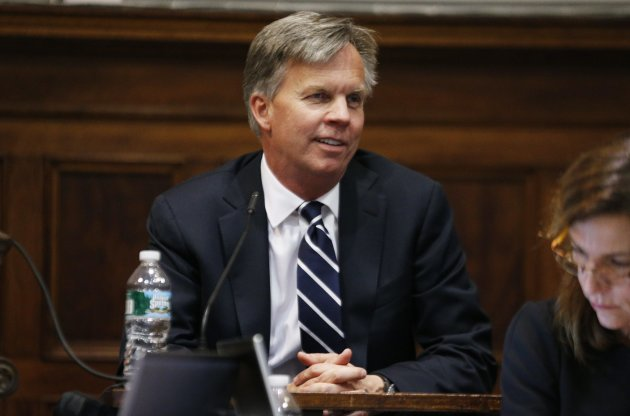J.C. Penney Chief Executive Ron Johnson testifies in New York state Supreme Court in Manhattan