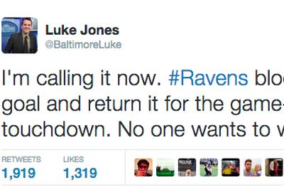 Ravens beat reporter is some kind of wizard, predicted 'MNF' ending