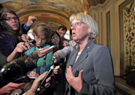 Supercommittee co-chair Sen. Patty Murray, D-Wash., talks to reporters on Capitol Hill in Washington, Wednesday, Nov. 16, 2011, as she emerged from a closed-door meeting of the panel. (AP Photo/J. Scott Applewhite)